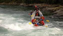 Rafting v Norsku na řece Sjoa - blbnutí