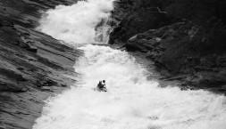 Norsko - Matěj Holub na obřím slajdu řeky Tysselva