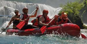 Rafting na Balkáně - řeka Una, Štrbačky Buk