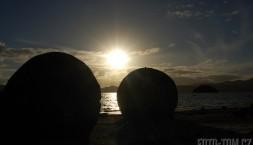 Nový Zéland, kulaté kameny
