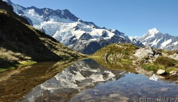 Nový Zéland, Mt Cook a jezírko