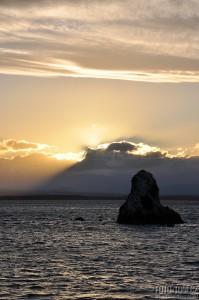 Západ slunce nad Tasmanovým mořem