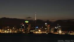 Noční hlavní město Auckland, Nový Zéland