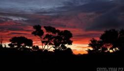 Barevný západ slunce, Nový Zéland