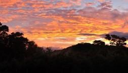 Nový Zéland, podvečerní panorama