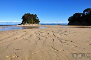 Pláž Tasmanova národního parku, Nový Zéland