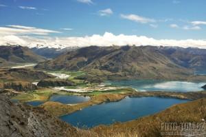 Výhled z hory Mt Roy, Wanaka, Nový Zéland