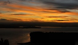 Panorama, západ slunce