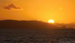 Západ slunce kdesi na Novém Zélandu..