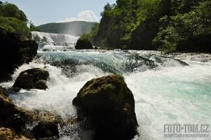 Vodopád Štrbački buk - řeka Una - Bosna