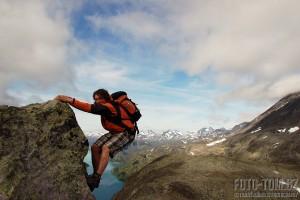 Park Jotunheimen v Norsku, jezero gjende trek