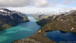 Norsko, park Jotunheimen - jezera Gjende a Bessegen