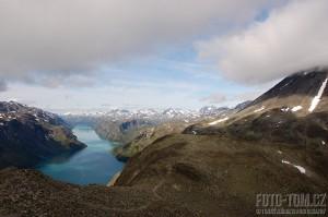 Norsko, park Jotunheimen - jezera Gjende