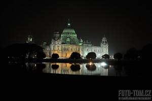 Victoria Memorial v Kalkatě v Indii