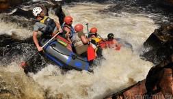 Tasmánie - rafting na Franklin river