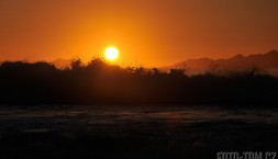 Tasmánie - západ slunce nad mořem