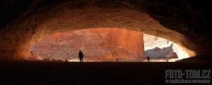 Jeskyně Red Wall Cavern, Colorado river, Grand Canyon