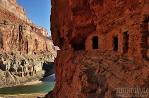 Indiánské sýpky, Grand Canyon, Colorado