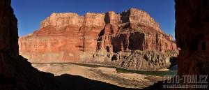Panoramatický výhled u sýpek, Grand Canyon