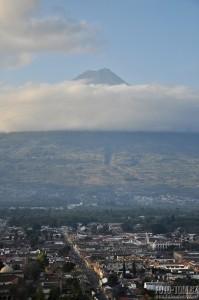 Antigua a sopka Agua, Guatemala