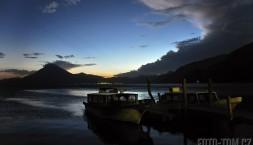 Lago de Atitlan, přístav Panajachel