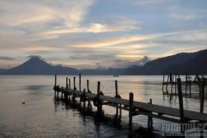 Panajachel a jezero Atitlan, Guatemala