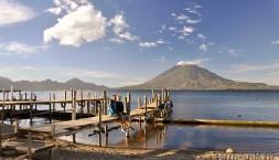 Panajachel a jezero Atitlan, tady je částečně autorem samospoušť ;)