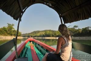 Rio Usumacinta, hranice Guatemala a Mexiko, Frontera Corozal