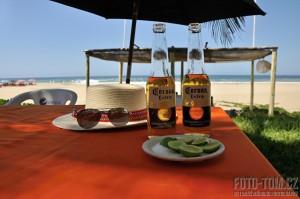 Pivo Corona, Mexiko, pláž