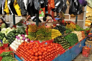Stánek se zeleninou, Mexická tržnice