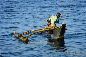 Rybář na Srí Lance