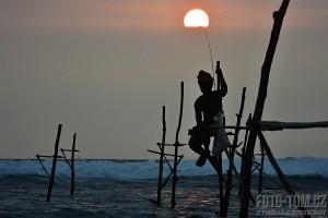 Rybáři na kůlech - Srí Lanka